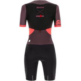 Santini Audax Aero Kombinezon triathlonowy z krótkim rękawem Kobiety, granatina